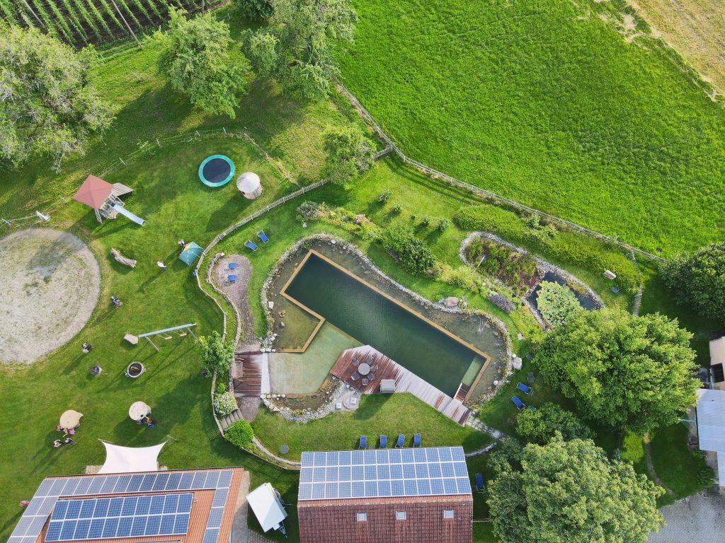 Ferienhof Metzler Luftaufnahme